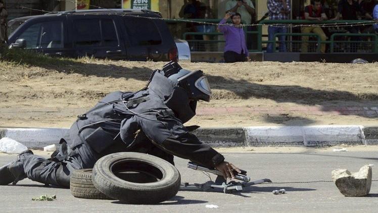8جرحى في انفجار قنبلة بالقاهرة