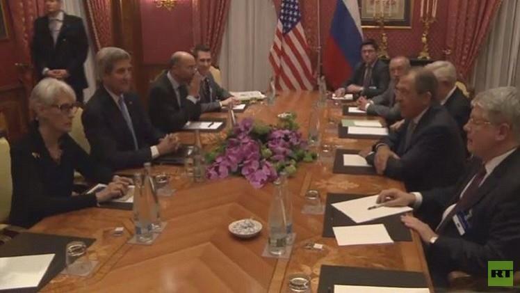 لقاء وزاري روسي أمريكي على هامش مفاوضات لوزان بشأن الملف النووي الإيراني
