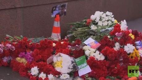 مكان حادثة اغتيال السياسي الروسي نيمتسوف