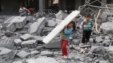 تدمير مدرسة بمدينة الرقة