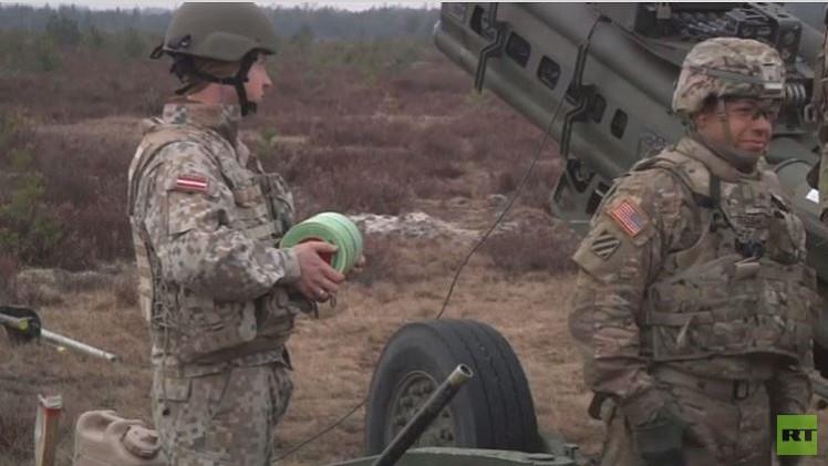 قوات من الناتو تجري تدريبات في لاتفيا (فيديو)