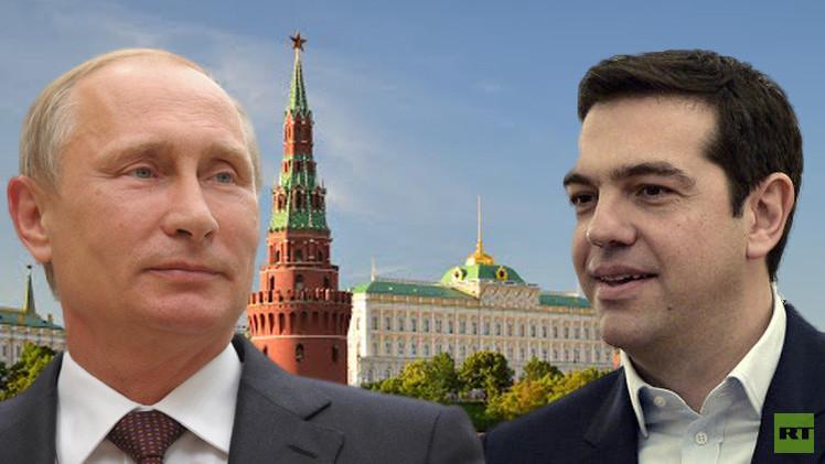 بوتين وتسيبراس يناقشان في موسكو ملف العقوبات ضد روسيا