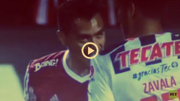(فيديو) لاعب آخر يقتدي بسواريز ويمارس