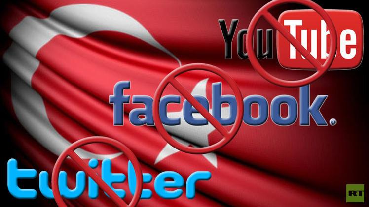 السلطات التركية تحظر شبكات التواصل الإجتماعي الرئيسية