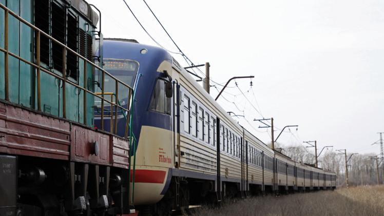 26 جريحا في اصطدام قاطرة بعربة قطار جنوب شرق موسكو