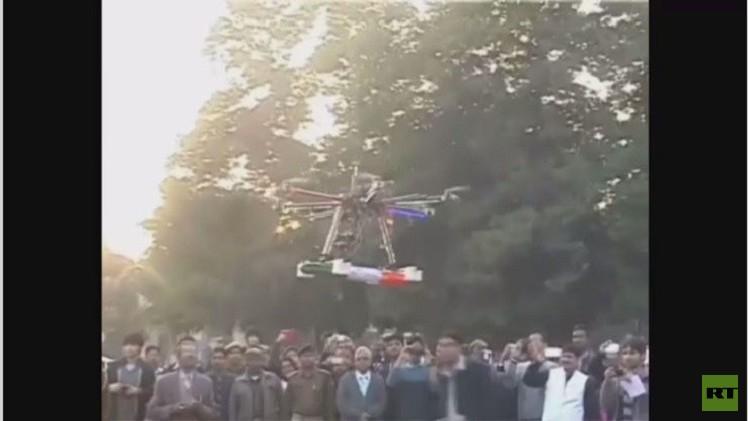 طائرات من دون طيار تستخدم ضد متظاهرين (فيديو)