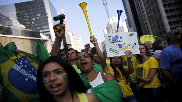 احتجاجات ضخمة في البرازيل ضد روسيف (فيديو)