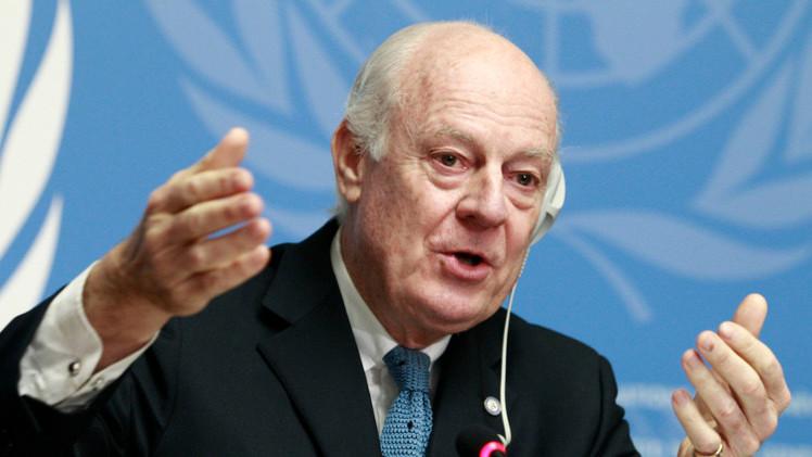 دي ميستورا يدعو إلى الإصغاء لرأي روسيا من أجل تسوية الأزمة السورية