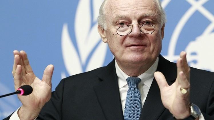 المبعوث الأممي لسوريا يبحث إجراء محادثات سياسية جديدة