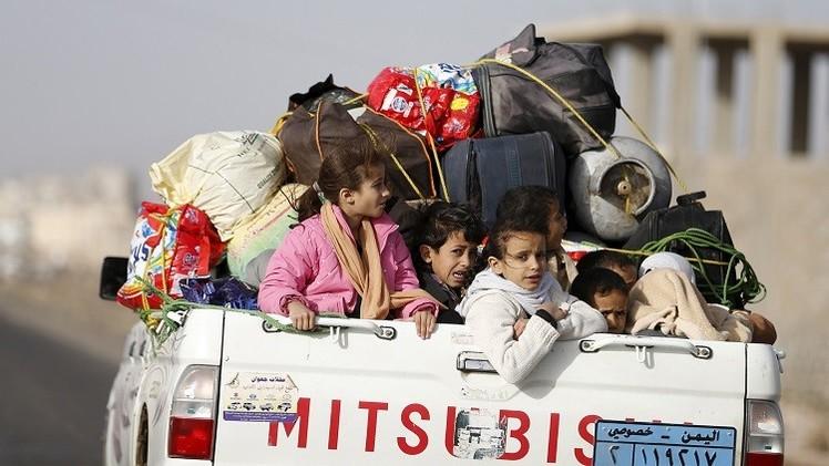 الأمم المتحدة: أكثر من 120 ألف يمني غادروا منازلهم بسبب غارات
