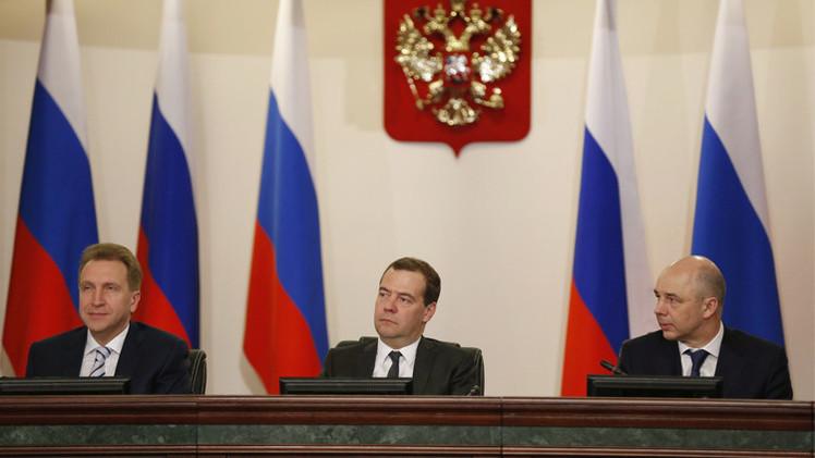 مدفيديف: أداء الاقتصاد الروسي بداية 2015 جاء أفضل من التوقعات