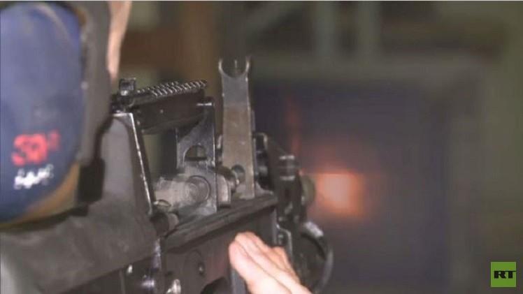 مدفع روسي رشاش يطلق النار بدقة تحت الماء (فيديو)