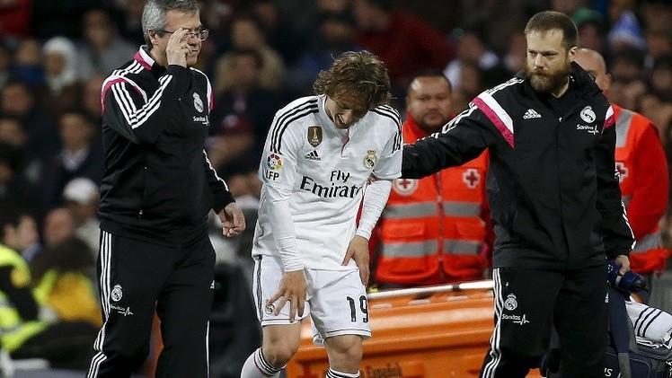 ريال مدريد يتلقى الضربة القاضية بإصابة مودريتش