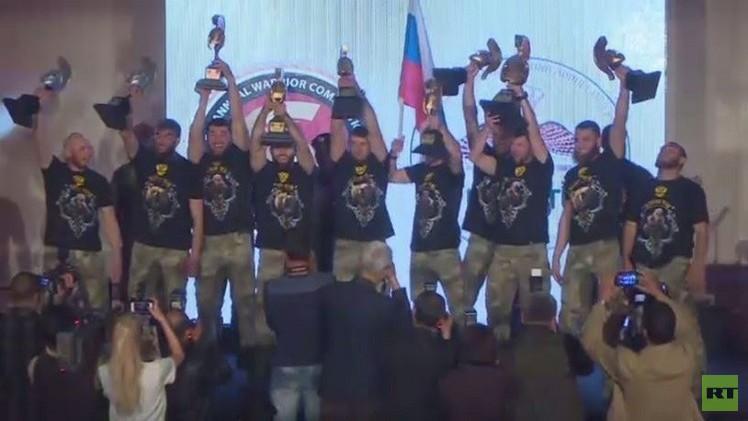 القوات الروسية الخاصة تفوز ببطولة مسابقة المحارب بعمان (فيديو)