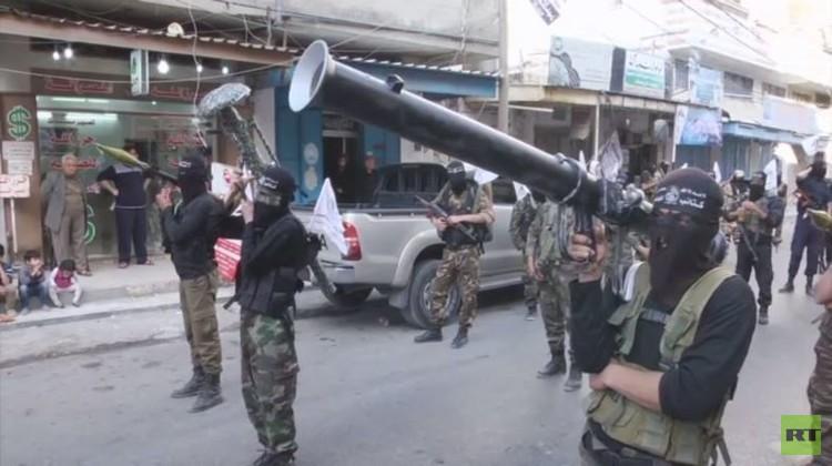 حماس تستعرض قوتها في شوارع غزة لليوم الثاني