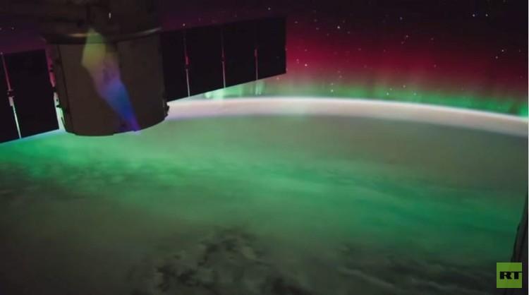 لقطات خلابة للشفق القطبي من المحطة الفضائية الدولية (فيديو)