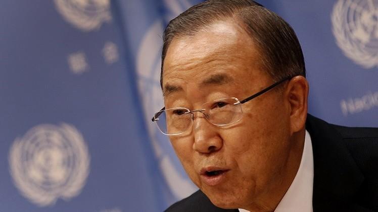 بان كي مون يستنكر قتل إسرائيل 44 فلسطينيا في منشآت للأمم المتحدة خلال حرب غزة