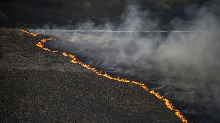 أوكرانيا تقاوم حرائق اجتاحت الغابات المحيطة بمحطة تشيرنوبل