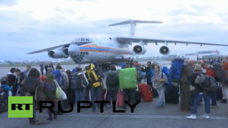 الطائرة الروسية إلى نيبال لإجلاء الروس والأجانب