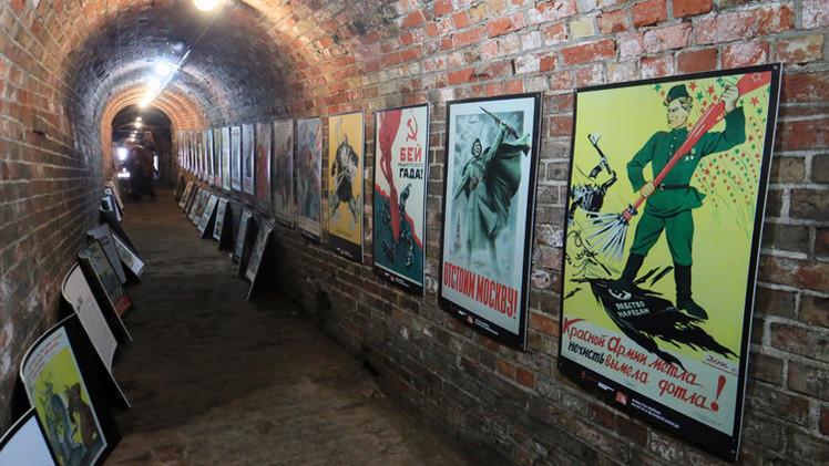 افتتاح معرض للملصقات في موضوع الحرب الوطنية العظمى بمدينة كالينينغراد الروسية