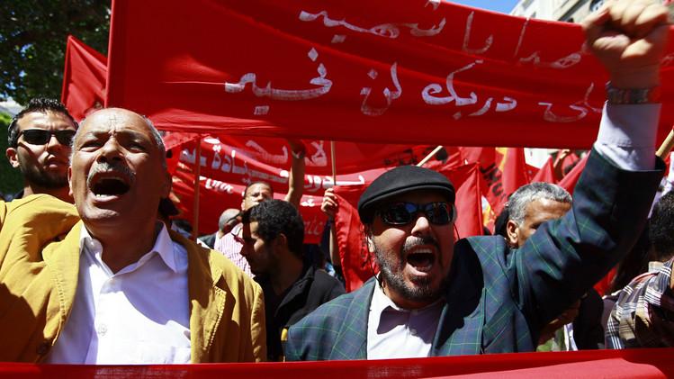 احياء عيد العمال، تونس 2014