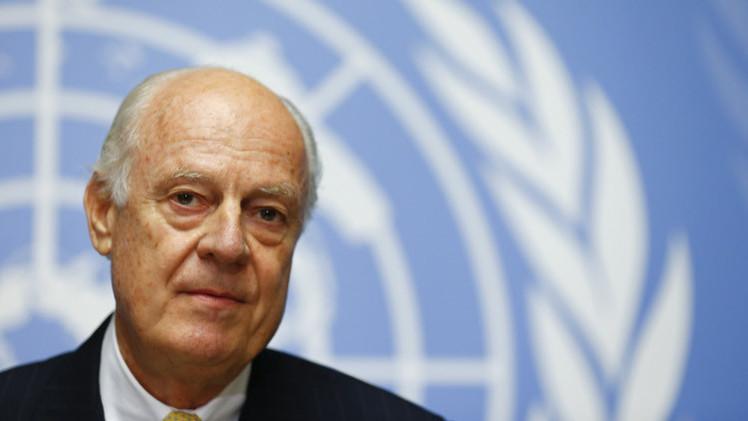 دي ميستورا سيقدم تقريره حول استشارات جنيف السورية قبل 30 يونيو