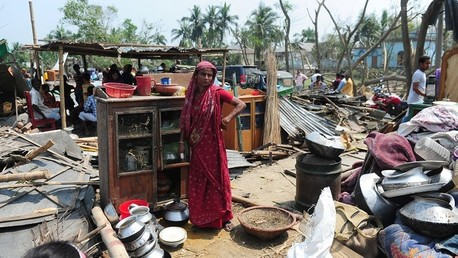 آثار العاصفة في بنغلادش - صورة أرشيفية