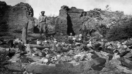 هياكل عظمية لضحايا مذابح الأرمن