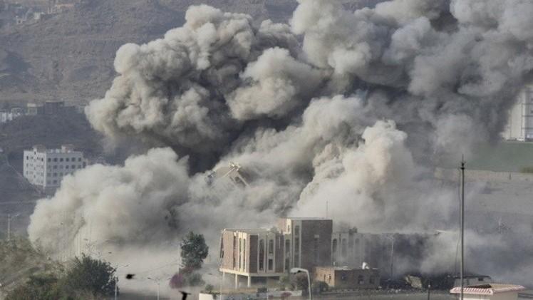 مقتل العشرات في قصف للتحالف على صنعاء