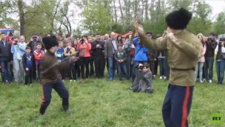 (فيديو).. قوزاق الدون يعرضون مهاراتهم في يوم القديس جاورجيوس