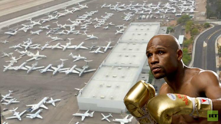 (صور) مطار لاس فيغاس ازدحم بالطائرات الخاصة بسبب نزال مايويذر