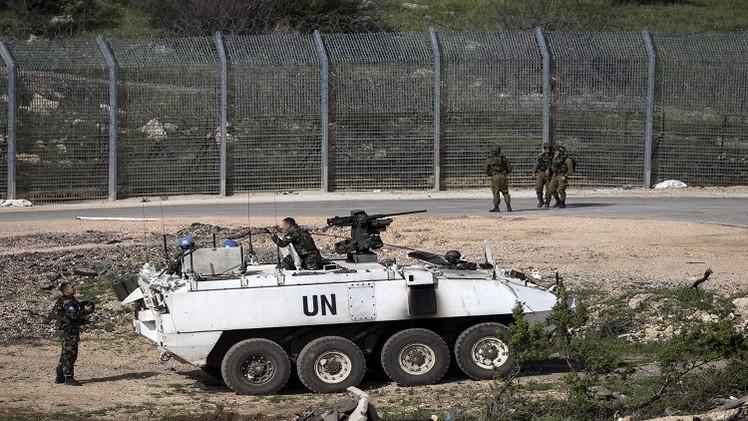 إصابة جنديين أمميين إثر سقوط قذائف على هضبة الجولان