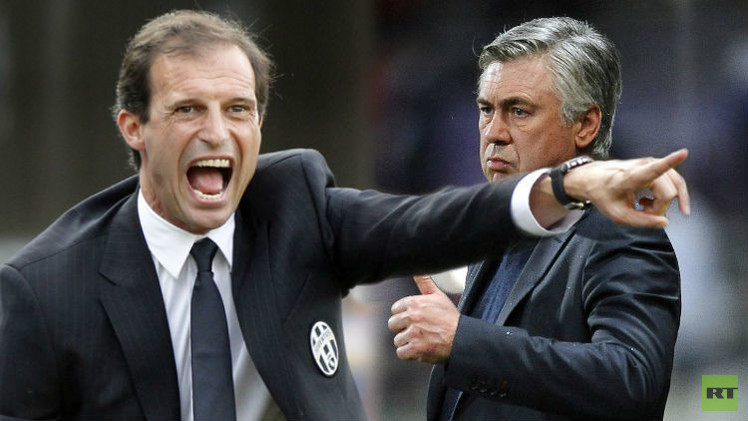 أنشيلوتي وأليغري.. صراع الإيطاليين في المربع الذهبي