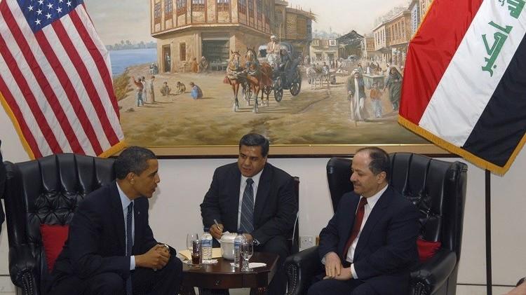 أوباما يستقبل بارزاني في البيت الأبيض ويشيد بـ