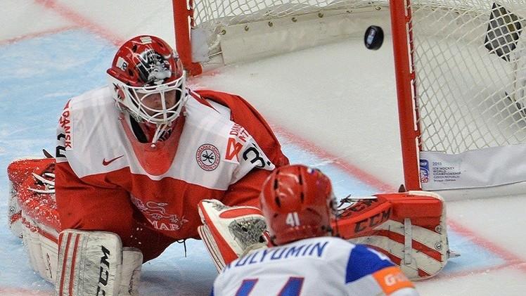 روسيا تحقق فوزهاالثالثفي بطولة العالم للهوكي