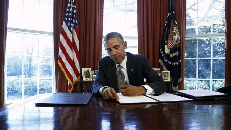 أوباما يمدد العقوبات ضد دمشق