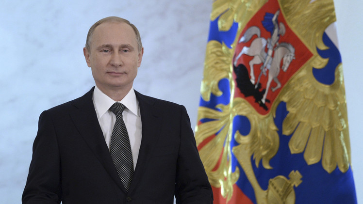 بوتين يلقي كلمة أمام الأعضاء في الجمعية الفيدرالية الروسية - البرلمان