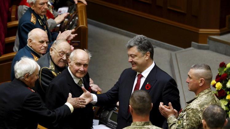 برلمان أوكرانيا يحتفل بالنصر بدعوة قدامى حلفاء الجيش النازي