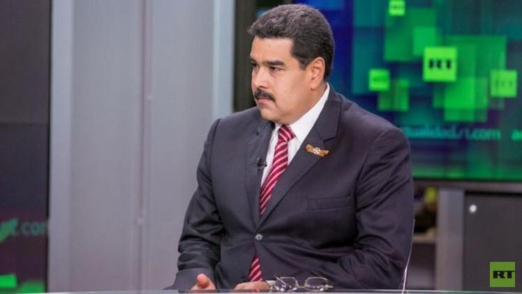 الرئيس الفنزويلي نيكولاس مادورو يزور مبنى  RT