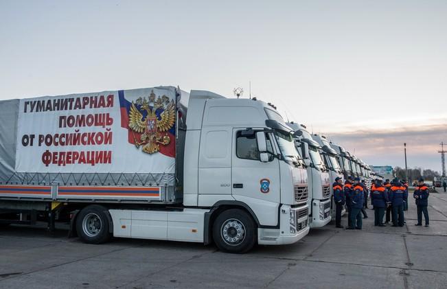 قافلة المساعدات الإنسانية الروسية الـ26 تنطلق إلى شرق أوكرانيا