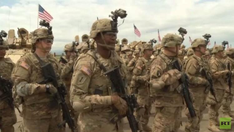تدريبات عسكرية أمريكية جورجية قرب تبيليسي (فيديو)