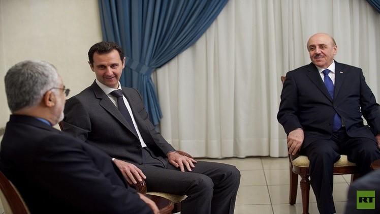 مملوك يحضر اجتماعا مع الأسد في دمشق