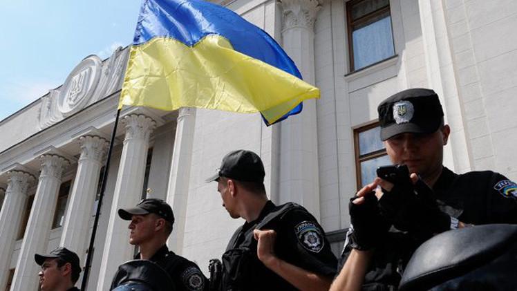 متظاهرون يطالبون الحكومة الأوكرانية بخفض تعرفة الغاز