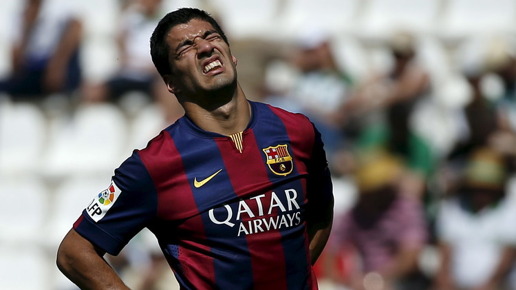 سواريز مهدد بالغياب عن مباراة أتلتيكو