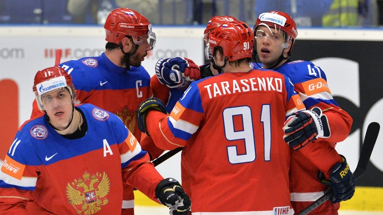 الدب الروسي يواجه الولايات المتحدة في المربع الذهبي لكأس العالم للهوكي