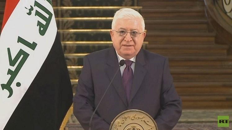 الرئيس العراقي يعلن مواصلة التعاون الاستراتيجي بين بغداد وطهران