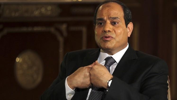 السيسي يدعو إلى وقف مد الجماعات الإرهابية في ليبيا  بالمال والسلاح