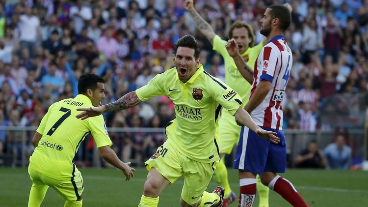 برشلونة يتوج بلقب الليغا في ملعب أتلتيكو مدريد .. (صور+فيديو)