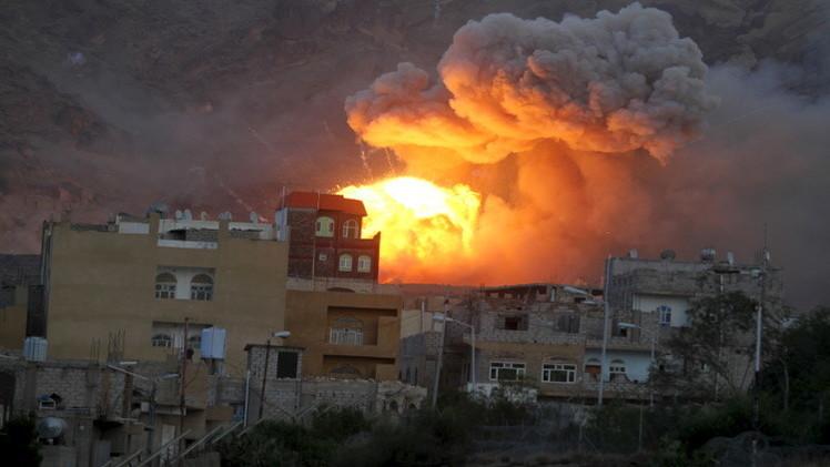 التحالف يقصف صنعاء لأول مرة بعد انتهاء الهدنة (فيديو)