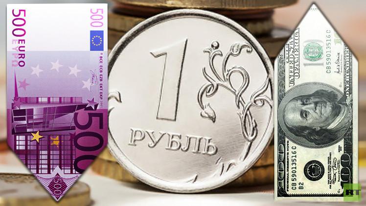 الروبل الروسي يرتفع مقابل اليورو ويتراجع مقابل الدولار